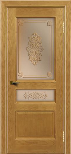 Двери ЛайнДор Калина ясень тон 24 стекло Дамаск бронза 2