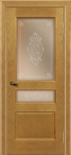 Двери ЛайнДор Калина ясень тон 24 стекло Дамаск бронза