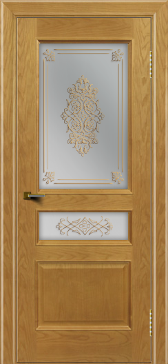 Двери ЛайнДор Калина ясень тон 24 стекло Дамаск
