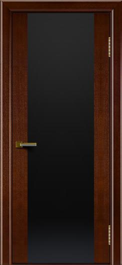 Двери ЛайнДор Камелия К американский орех тон 19 стекло Черное