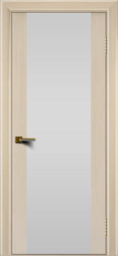 Двери ЛайнДор Камелия К беленый дуб тон 16 стекло Белое