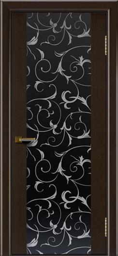 Двери ЛайнДор Камелия К венге тон 12 стекло Кружева