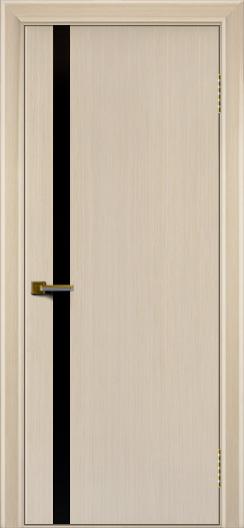 Двери ЛайнДор Камелия К 1 беленый дуб тон 16 стекло Черное