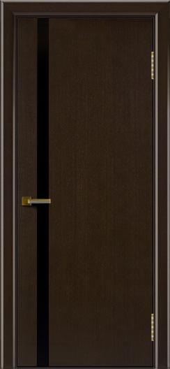 Двери ЛайнДор Камелия К 1 венге тон 12 стекло Черное