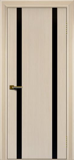 Двери ЛайнДор Камелия К 2 беленый дуб тон 16 стекло Черное