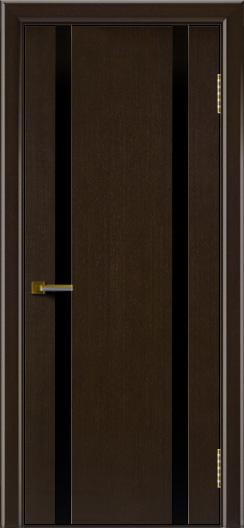Двери ЛайнДор Камелия К 2 венге тон 12 стекло Черное