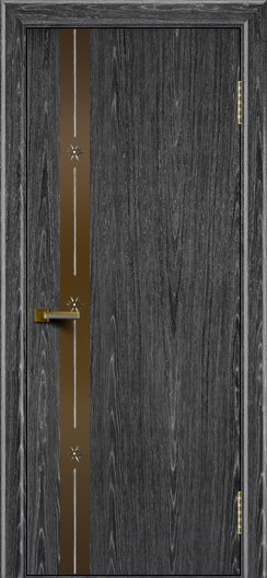 Двери ЛайнДор Камелия К 3 абрикос тон 22 стекло Звезда