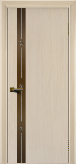 Двери ЛайнДор Камелия К 3 беленый дуб тон 16 стекло Звезда