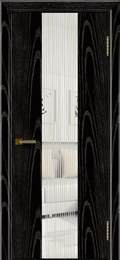 Двери ЛайнДор Камелия К 4 черная эмаль тон 26 стекло Водопад