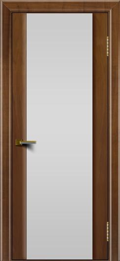 Двери ЛайнДор Камелия американский орех тон 23 стекло Белое