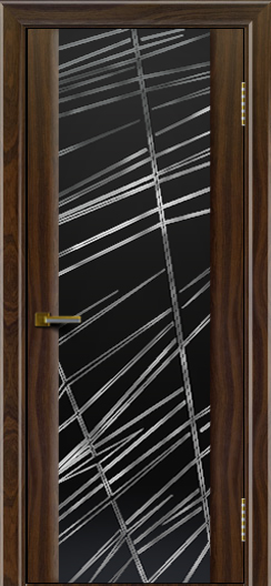 Двери ЛайнДор Камелия американский орех тон 25 стекло Графит