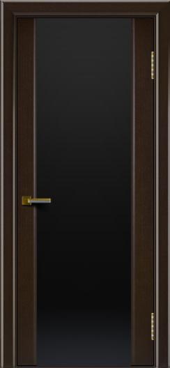 Двери ЛайнДор Камелия венге тон 12 стекло Черное