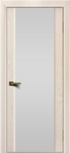 Двери ЛайнДор Камелия жемчуг тон 27 стекло Белое