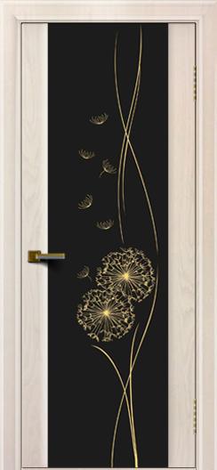 Двери ЛайнДор Камелия жемчуг тон 27 стекло Одуванчик