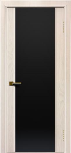 Двери ЛайнДор Камелия жемчуг тон 27 стекло Черное