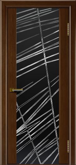 Двери ЛайнДор Камелия орех тон 2 стекло Графит