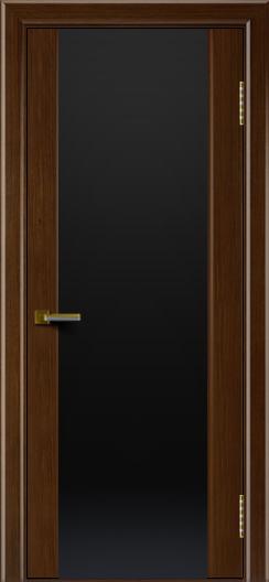 Двери ЛайнДор Камелия орех тон 2 стекло Черное