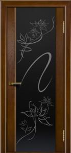 Двери ЛайнДор Камелия тон 30 стекло рис. Камелия