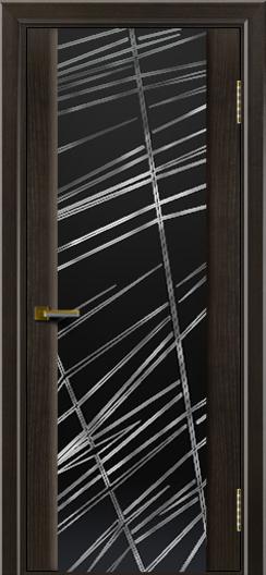 Двери ЛайнДор Камелия тон 31 стекло Графит