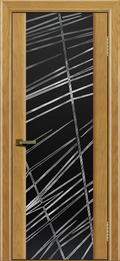 Двери ЛайнДор Камелия ясень тон 24 стекло Графит