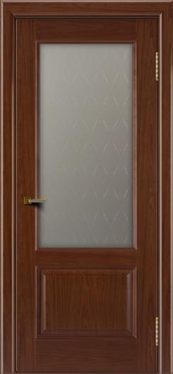 Двери ЛайнДор Кантри вишня тон 6 стекло Ромб