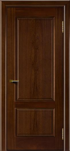 Двери ЛайнДор Кантри красное дерево тон 10 глухая