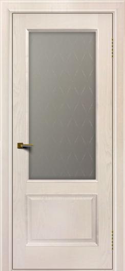 Двери ЛайнДор Кантри ясень жемчуг тон 27 стекло Ромб
