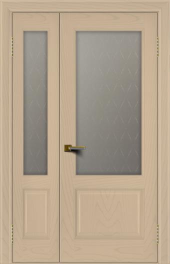 Двери ЛайнДор Кантри ясень тон 3 полуторная стекло Кантри 1