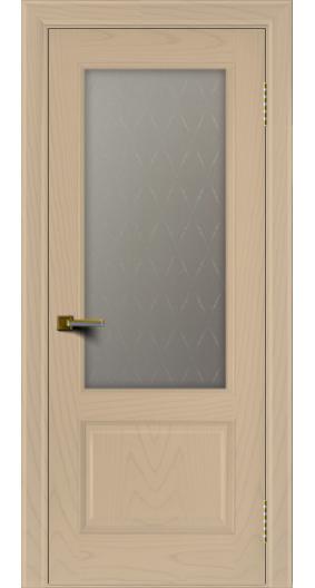 Двери ЛайнДор Кантри ясень тон 3 стекло Кантри 1