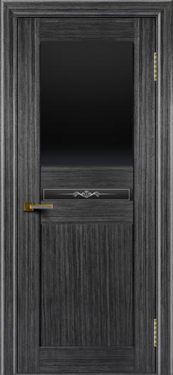 Двери ЛайнДор Кристина абрикос тон 22 стекло Черное верхнее