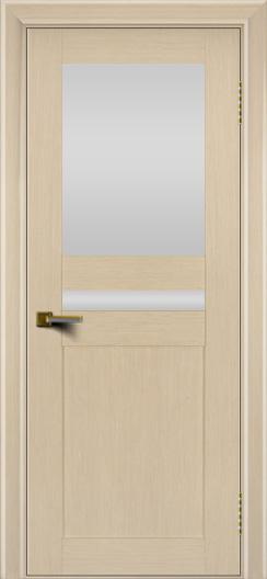 Двери ЛайнДор Кристина беленый дуб тон 16 стекло Белое верхнее