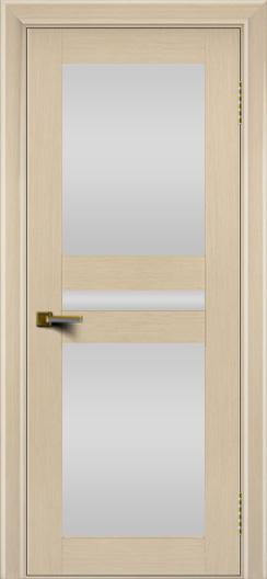 Двери ЛайнДор Кристина беленый дуб тон 16 стекло Белое полное