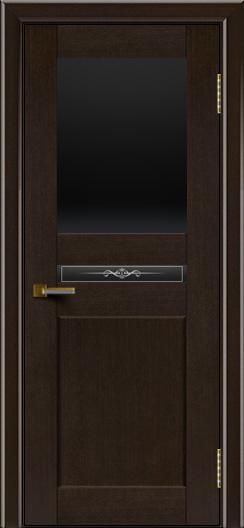 Двери ЛайнДор Кристина венге тон 12 стекло Черное верхнее