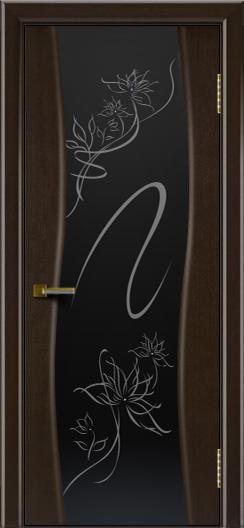 Двери ЛайнДор Лайма венге тон 12 стекло рис. Камелия