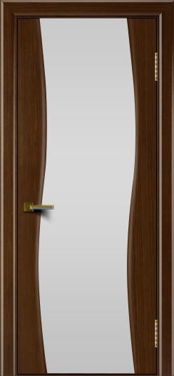 Двери ЛайнДор Лайма орех тон 2 стекло Белое