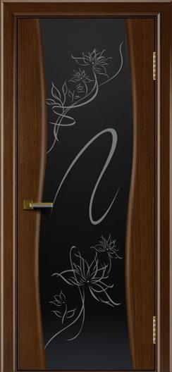 Двери ЛайнДор Лайма орех тон 2 стекло рис. Камелия