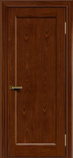 Двери ЛайнДор Мальта красное дерево тон 10 глухая