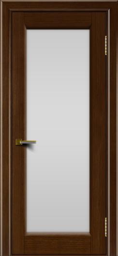 Двери ЛайнДор Мальта орех тон 2 стекло белое