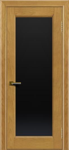 Двери ЛайнДор Мальта ясень тон 24 стекло черное