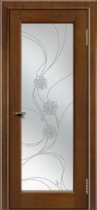 Двери ЛайнДор Мальта 2 американский орех тон 23 стекло Астра наливка