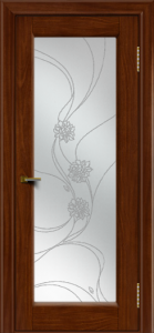 Двери ЛайнДор Мальта 2 тон 10 стекло Астра наливка