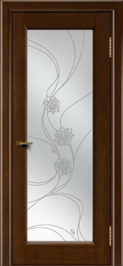 Двери ЛайнДор Мальта 2 тон 2 стекло Астра наливка