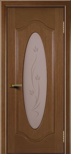 Двери ЛайнДор Орбита дуб тон 5 стекло Алина
