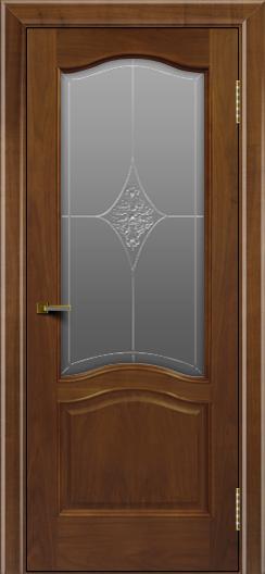 Двери ЛайнДор Пронто американский орех тон 23 стекло Амелия