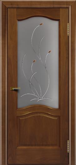 Двери ЛайнДор Пронто американский орех тон 23 стекло Ковыль