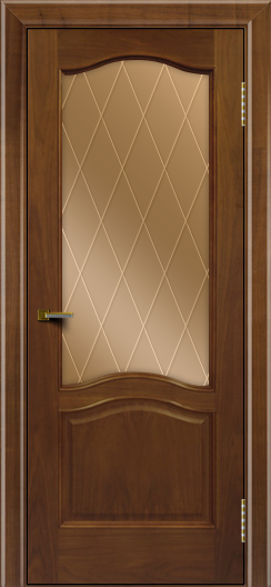 Двери ЛайнДор Пронто американский орех тон 23 стекло Лондон бронза