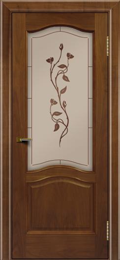 Двери ЛайнДор Пронто американский орех тон 23 стекло Маки