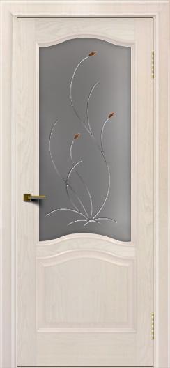 Двери ЛайнДор Пронто ясень жемчуг тон 27 стекло Ковыль