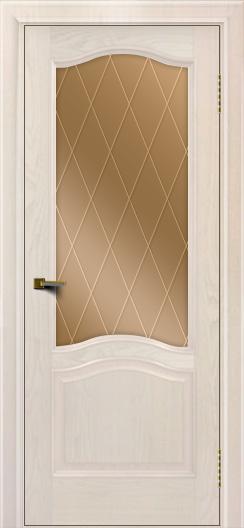 Двери ЛайнДор Пронто ясень жемчуг тон 27 стекло Лондон бронза