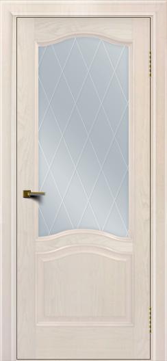 Двери ЛайнДор Пронто ясень жемчуг тон 27 стекло Лондон